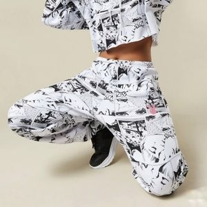 New Playboy Comic Printed Joggers Oversized XL